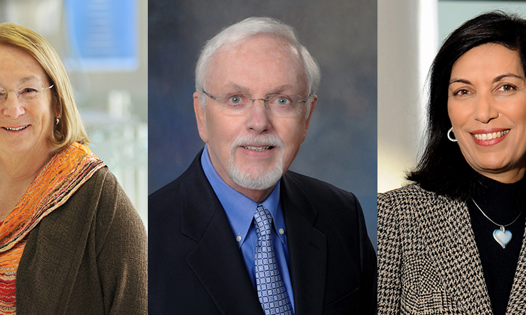Drs. Mary K. Estes, Bert O'Malley and Huda Zoghbi