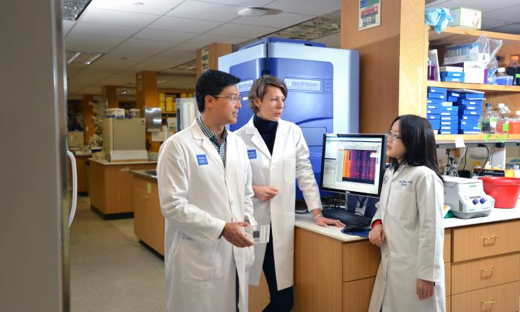 From right, Dr. Keith Syson Chan, Antonina Kurtova and Dr. Jing Xiao.