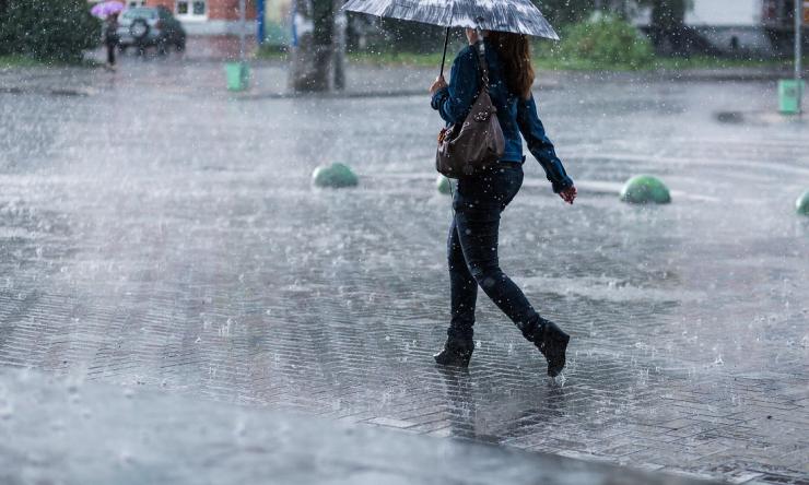 Walking in rain