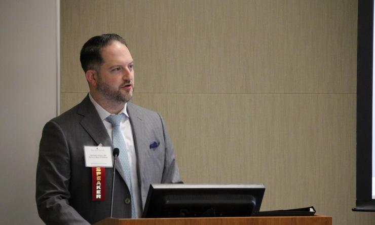 Dr. Alexander Ropper speaking at the 2019