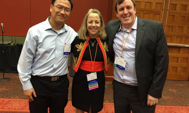 Dr. Zhang with Metastatic Breast Cancer Advocates
