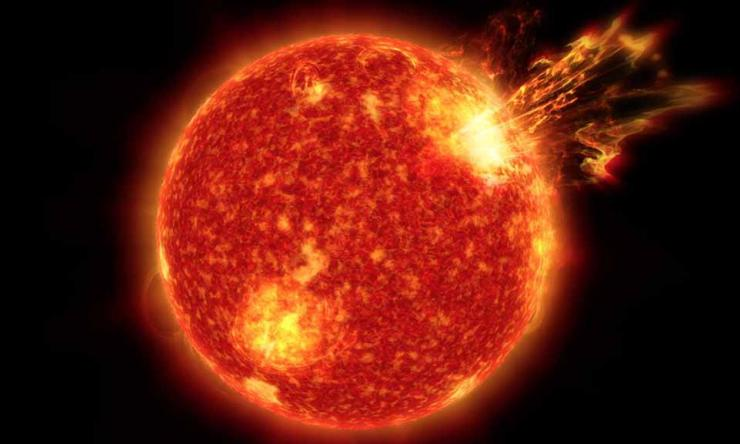 Radiation Risks as Humans Travel to the Red Planet, Solar storms (solar particle events) pose a significant risk of radiation exposure as we travel to Mars. TRI for Space Health is helping find new solutions to keep astronauts safe.