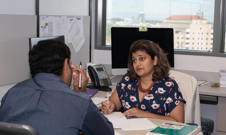 Dr. Ruhee Dere and Pratim discussion