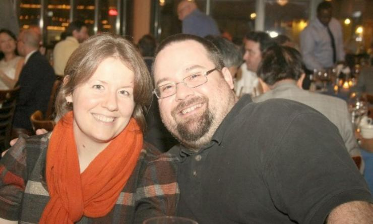 Primary faculty member Koen Venken, Ph.D. and his wife Kristi Hoffman, Ph.D.