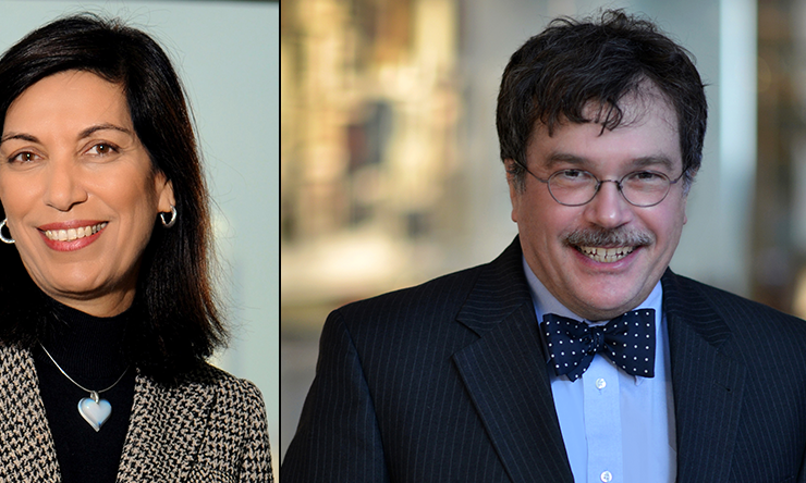 Dr. Huda Y. Zoghbi, professor and Howard Hughes Medical Institute Investigator and Dr. Peter J. Hotez, professor and dean of the National School of Tropical Medicine.